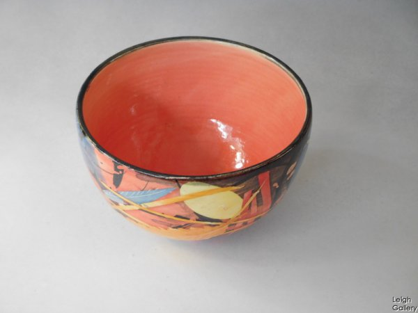 Sophie Maccarthy - Small bowl - Leaves. Red (smc7c)
